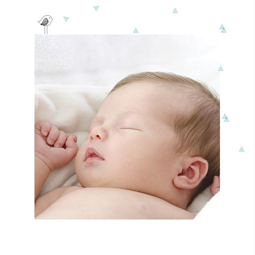Faire-part de naissance Là-haut photo vert eau - Page 2
