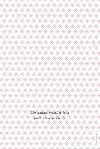 Menu de baptême Pop (4 pages) rose pastel - Page 4