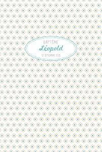 Menu de baptême beige pop (4 pages) bleu pastel