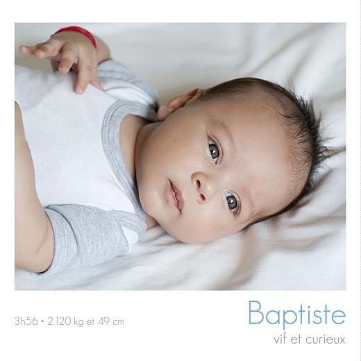 Faire-part de naissance Jumeaux simple 4 photos blanc - Page 3
