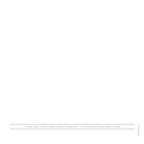 Faire-part de mariage Design (4 pages) blanc - Page 4