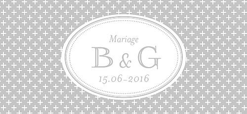 Etiquette perforée mariage Motif chic gris