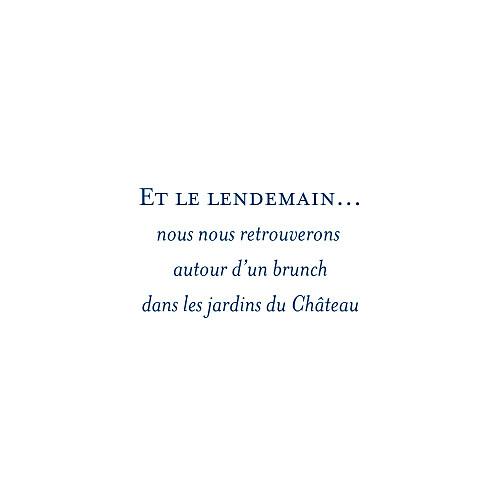 Carton d'invitation mariage Chic (carré) bleu roi - Page 2