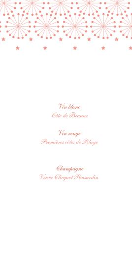 Menu de mariage Hollywood corail - Page 2