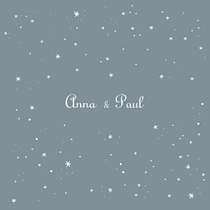 Faire-part de mariage étoile étoile gris bleu