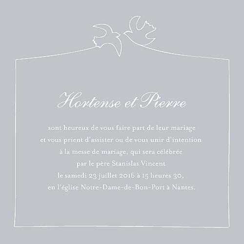 Faire-part de mariage Colombe gris - Page 3