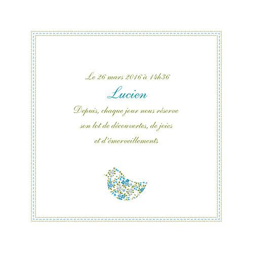 Faire-part de naissance Bilingue liberty bleu - Page 3