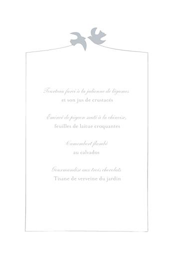Menu de mariage Colombe gris - Page 3