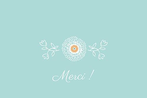 Carte de remerciement Merci champêtre multicolore