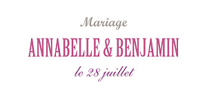 Etiquette de mariage violet le plus beau jour blanc