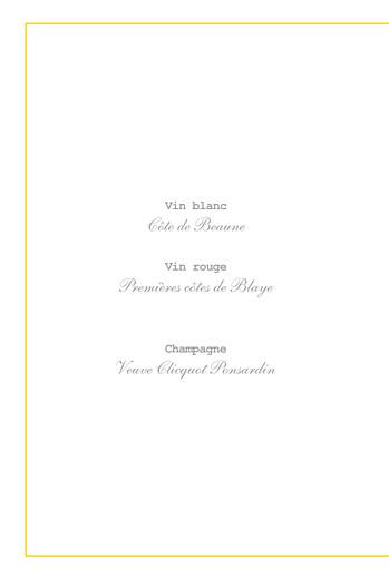 Menu de baptême Pistil écusson (4 pages) jaune - Page 2