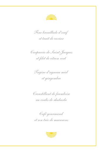 Menu de baptême Pistil écusson (4 pages) jaune - Page 3
