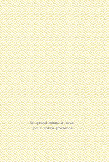 Menu de baptême Pistil écusson (4 pages) jaune - Page 4