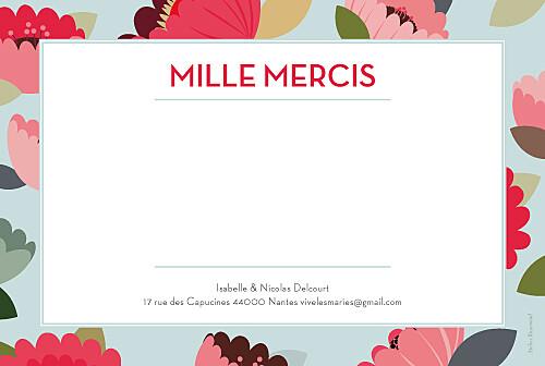 Carte de remerciement mariage Jardin bohème bleu - Page 2