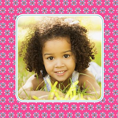 Carte d'anniversaire Petit pop rose finition