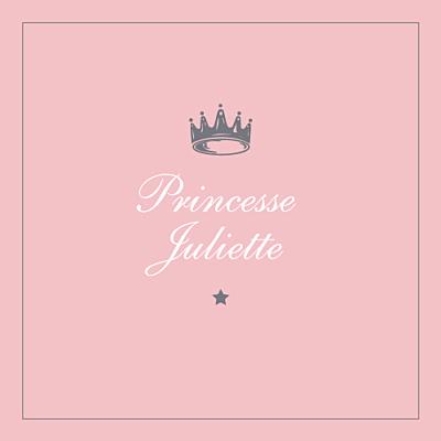 Carte d'anniversaire Petite couronne rose finition