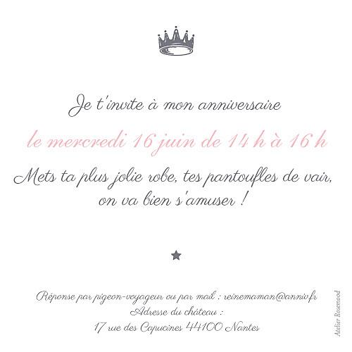 Carte d'anniversaire Petite couronne rose - Page 2