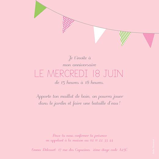 Carte d'anniversaire Fanions photo rose anis - Page 2
