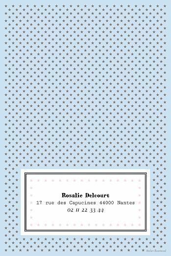 Carte d'anniversaire Festival rose bleu - Page 2