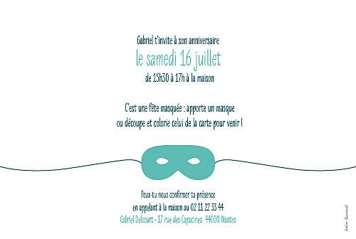 Carte d'anniversaire Masque turquoise - Page 2