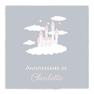 Carte d'anniversaire Château dans le ciel photo gris