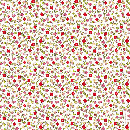 Faire-part de naissance Jardin fleuri rouge - Page 2