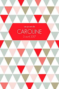 Carte d'anniversaire Triangles photo rouge