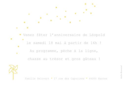 Carte d'anniversaire Moulin à vent jaune - Page 2