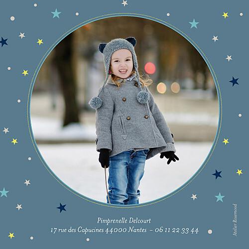 Carte d'anniversaire Soirée pyjama photo bleu nuit - Page 2