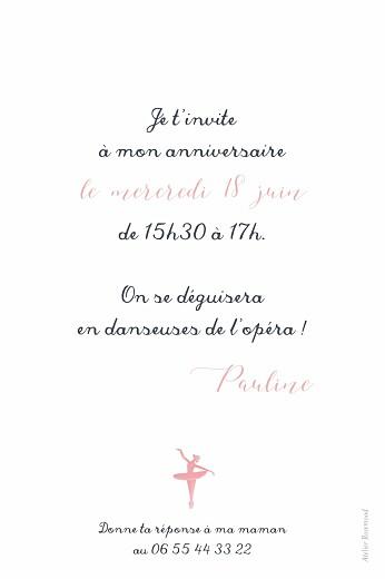 Carte d'anniversaire Chaussons de danse rose - Page 2