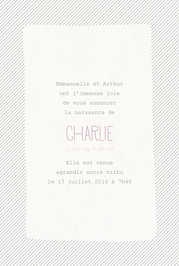 Faire-part de naissance Tipis photo (4 pages) beige rose - Page 3