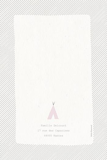 Faire-part de naissance Tipis photo (4 pages) beige rose - Page 4