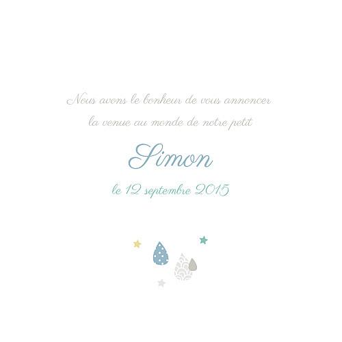 Faire-part de naissance Tombe la pluie (3 photos) vert - Page 3