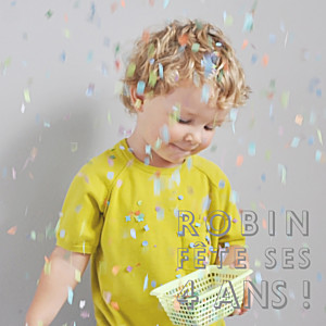 Carte d'anniversaire jaune mini the photo ! justifié citron