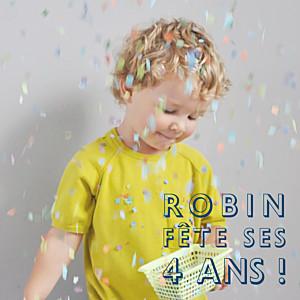 Carte d'anniversaire avec photo mini the photo ! justifié bleu nuit