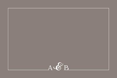 Carton réponse mariage Classique liseré taupe finition