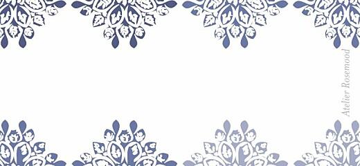 Etiquette perforée mariage Grâce blanc bleu - Page 2