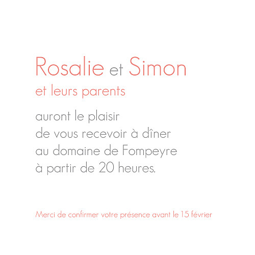 Carton d'invitation mariage Moderne photo blanc - Page 2