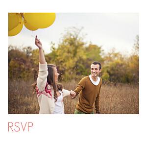 Carton réponse mariage avec photo moderne photo blanc