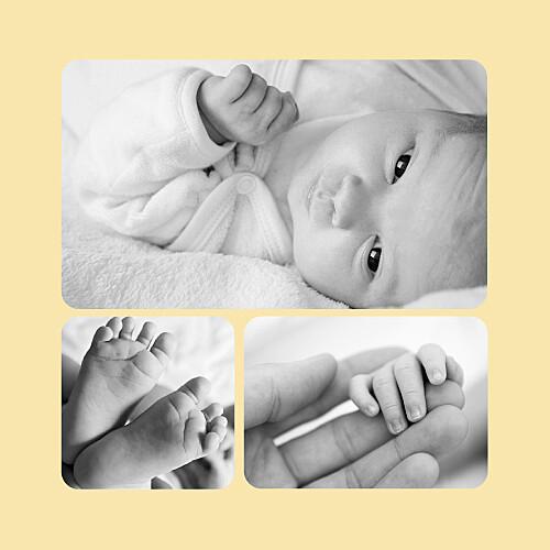 Faire-part de naissance Chaton 3 photos jaune - Page 2