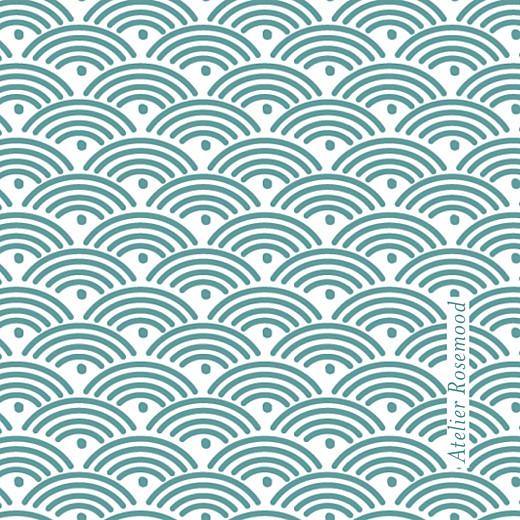 Etiquette perforée baptême Pattern turquoise - Page 2