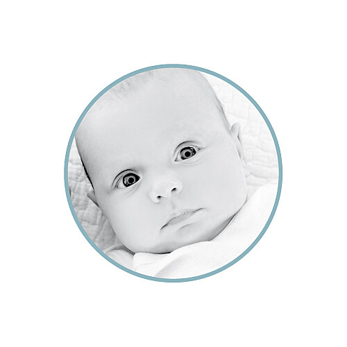 Faire-part de naissance Voiture médaillons 2 photos bleu - Page 2