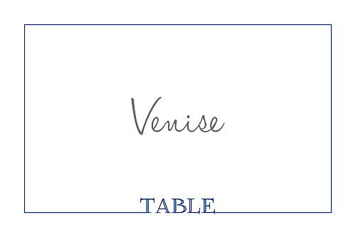 Marque-table mariage Classique liseré bleu