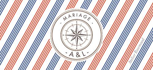 Etiquette perforée mariage Voyage blanc - Page 2