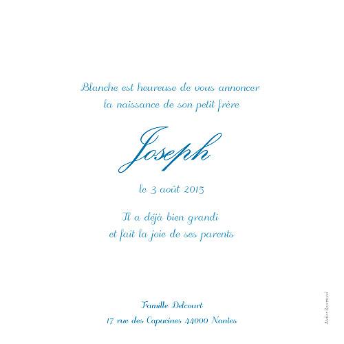 Faire-part de naissance Douceurs bleu - Page 2