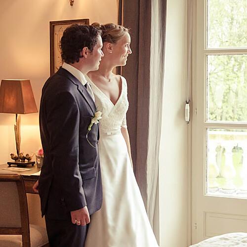 Carte de remerciement mariage Plein la vue (3 photos) blanc - Page 2