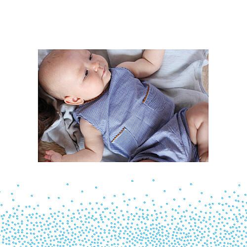 Faire-part de naissance Éveil photo bleu - Page 2