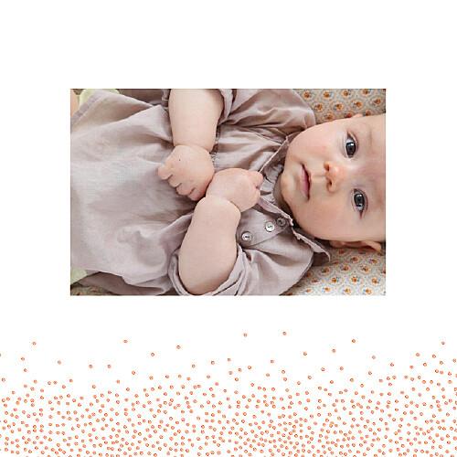 Faire-part de naissance Éveil photo corail - Page 2