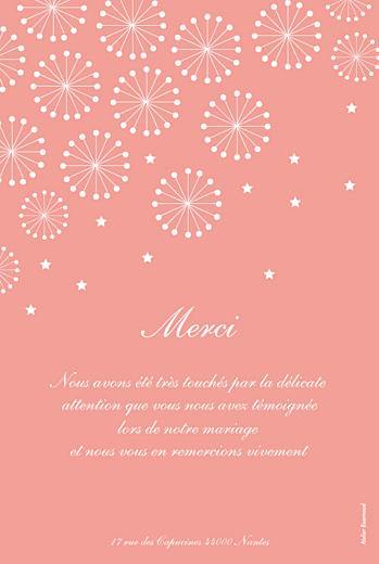 Carte de remerciement mariage Hollywood corail - Page 2