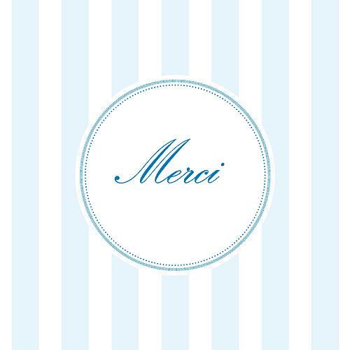 Carte de remerciement Petites douceurs bleu